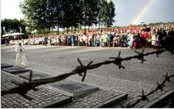 Pope, Rainbow Birkenau Nazi Death Camp