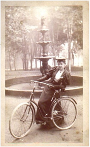 &#160; Woman Bicycle