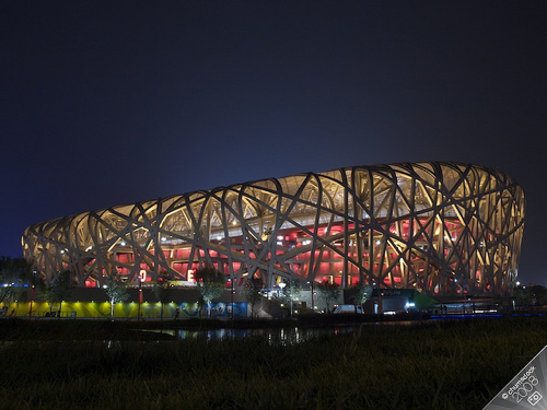  Al Weiwei -Birds Nest At Night