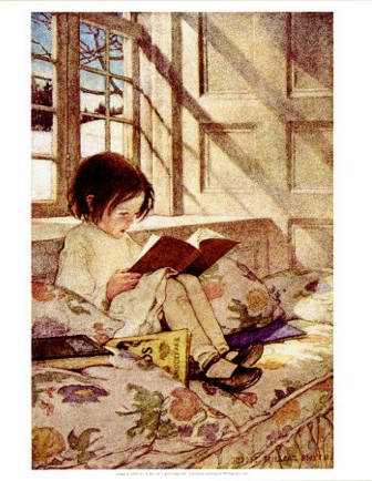  Books In Winter Jessie Wilcox Smith