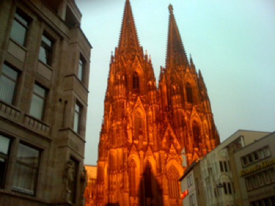 Cologne Cathedral Sunset Fire
