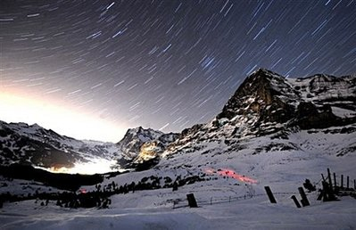Eiger Peak Switzerland At Night