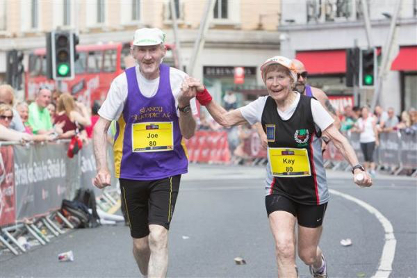 80 Yo Couple Finish Marathon