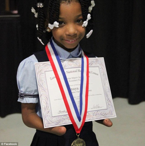 Anaya Ellick 7 Wins Handwriting Competition