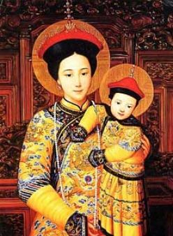 Chinese Icon Mary Babyjesus