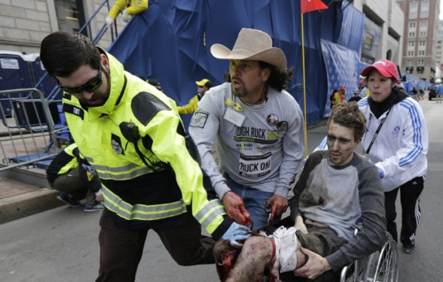 Cowboyhat-Rescuer Boston Bombings