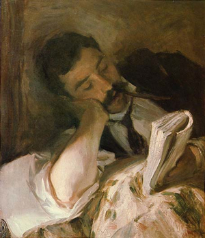 Man Reading John Singer Sargent