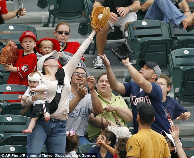 Mother Catches Ball