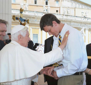 Pope Blesses Peter Srsich-1