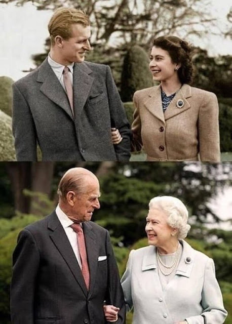 Queen And Prince  70Yrs Apart