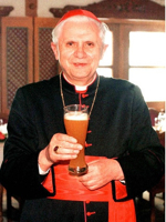  Pope With Glass Of Beer