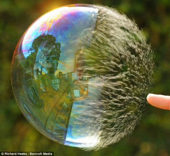 Bursting Soapbubble