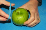 Cut Apple Rubber Band