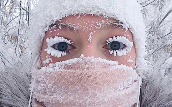 Frozen Eyelashes Siberia