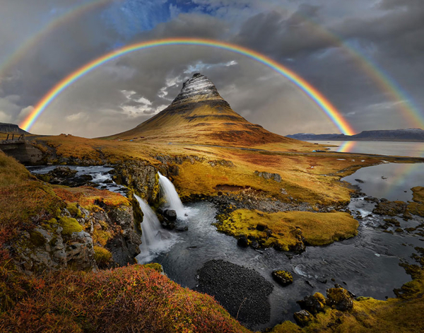 Iceland-Rainbow Over Kirkufell
