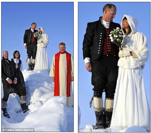 North Pole white wedding