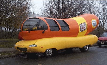 Weiner whistles on oscar meyer weenie mobile