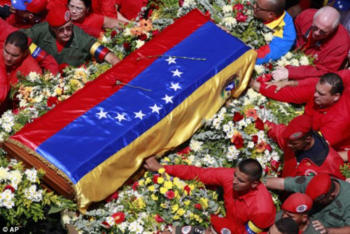 -Hugo Chavez Coffin Caudillos
