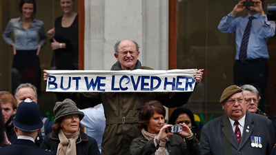 -Thatcher-Funeral &quot;We Loved-Her&quot;