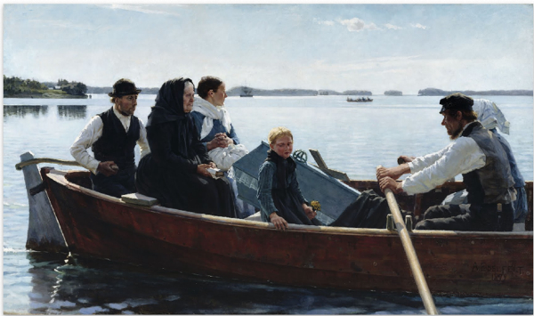 Conveying A Child's Coffin, 1879 Albert Edelfelt