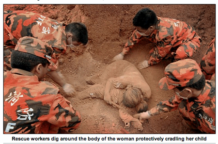 Dead Woman-Cradling -Child-China