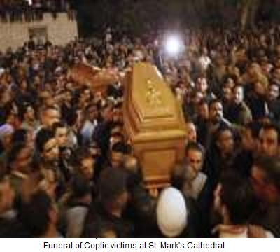 Funeral Coptic Victims Egypt