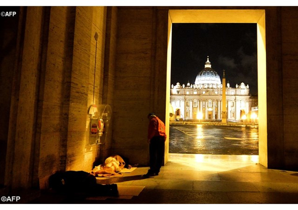 Homeless Outside Vatican