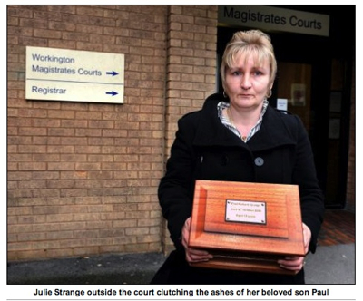 Mother Son's Ashes To Court