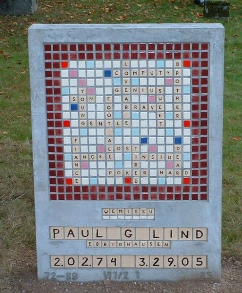 Scrabble Tombstone