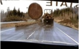 &#160; Logs Falling Off Truck