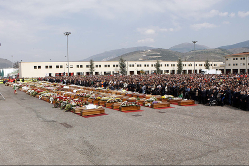 More-Earthquake Funeral
