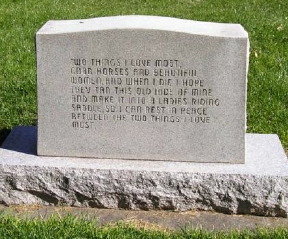 Real Cowboy Tombstone