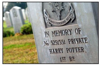 Harry Potter Grave